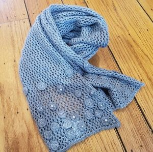 COLDWATER CREEK Grey Knit Scarf